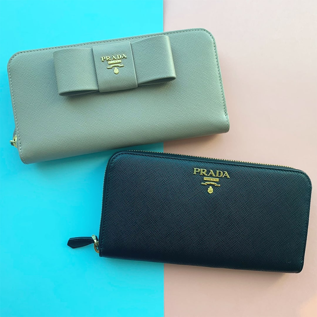 PRADA MINI&LONG WALLET